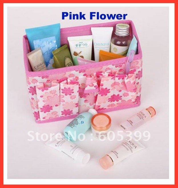 Case Storage-Box Organization Container-Bag Cosmetic Make-Up Folding 8-Colors