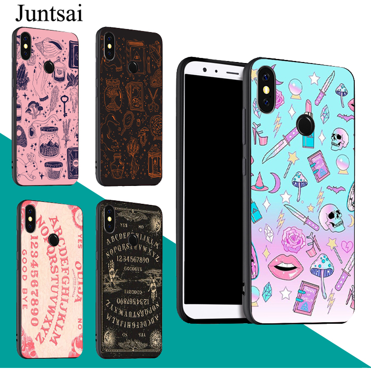 Girly Pastel Witch Goth Ouija Case For <font><b>Xiaomi</b></font> Redmi Note 9 7 8 <font><b>Pro</b></font> K30 9S 8T 7A 8A <font><b>Mi</b></font> 9T A3 9 SE 10 Lite <font><b>Max3</b></font> Mix3 image