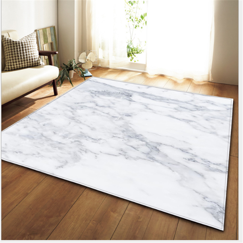 AOVOLL Area Rug For Living Room New Marble Pattern Style Carpet Floor Mat Christmas Bedroom Rugs Living Room Table Accessories