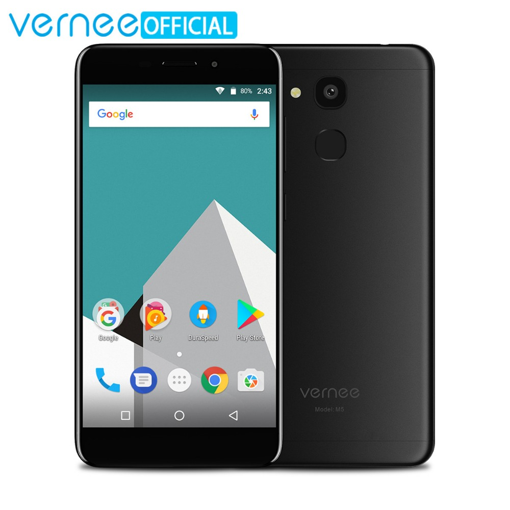 Vernee M5 MT6750 Octa-núcleo Android 7.0 Celular 4G RAM 64G ROM 5.2 Polegada 13MP 3300 mAh 4G Dual SIM Sensor de Impressão Digital smartphones