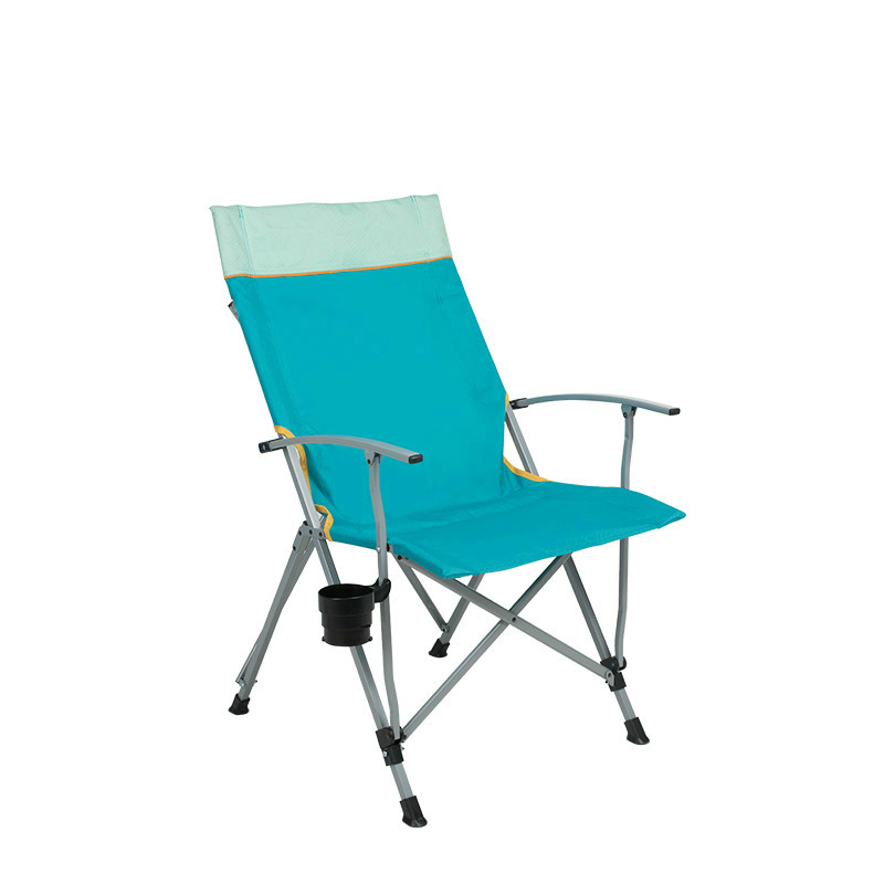 Outdoor Folding Recliner Chair Portable Camping Fishing Beach Leisure Lunch  Break Chair