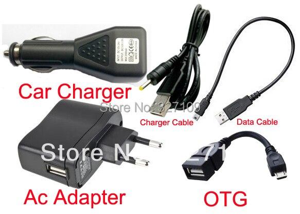 """ЕС Plug Зарядное Устройство Адаптер 5 В 2A + DC Автомобильное Зарядное Устройство Порт USB + Кабель для Передачи Данных для Prestigio MultiPad Модель PMP5080C 8 """"Tablet PC"""