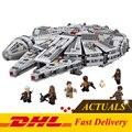 DHL 1381 unids 2016 79211 LEPIN 05007 Star Wars Halcón Milenario Fuerza Despertar Bloques de Construcción de Montaje Compatible con 75105