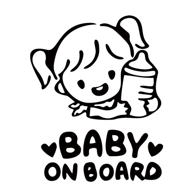 Car Styling For Baby On Board Warning Cute Car Stickers Rear Window