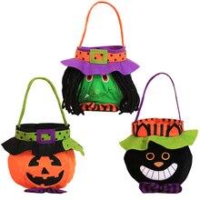 569868598 3 piezas de Halloween truco o tratar bolsas reutilizables de caramelo bolsa  de fiesta de Halloween Favor bolsas de regalo para l.