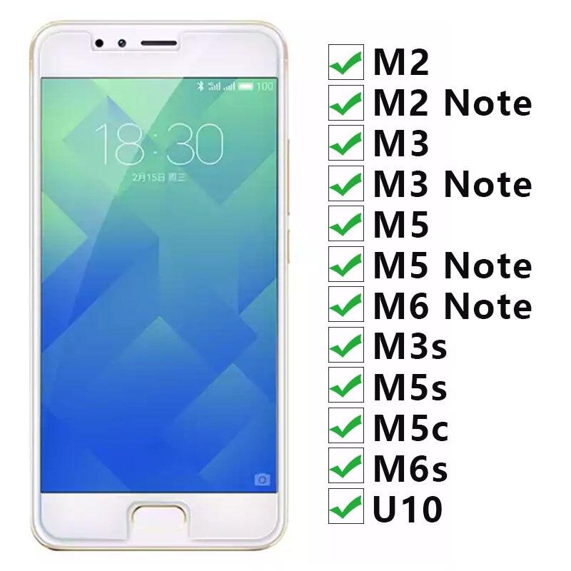 Vidro temperado Para Meizu M6s M5c M3s U10 M5 M3 M2 M6 Nota Glas Protetora Sobre A Maisie M 6 s 5c 5 3 6 2 S C 2 3 s m 3 m 5 m 6 m Não U 10
