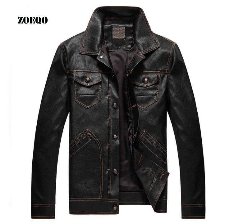 Высококачественная мотоциклетная кожаная куртка для мужчин с несколькими карманами кожаные мужские куртки пальто Зимняя мужская куртка флисовая верхняя одежда из искусственной кожи