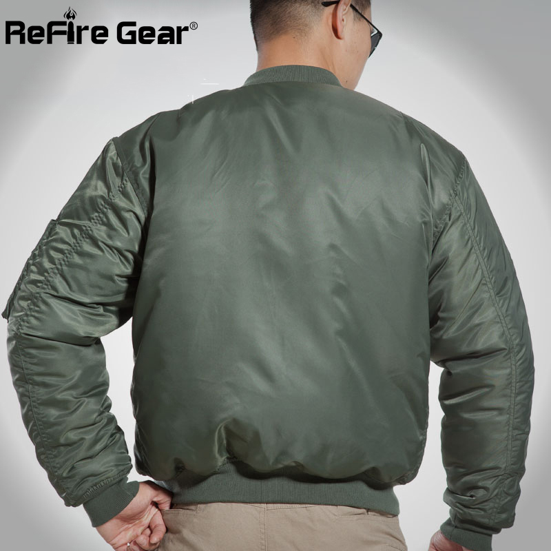 1aaa6ea5e MA1 Army Air Force Fly Pilot Jacket Military Airborne Flight ...