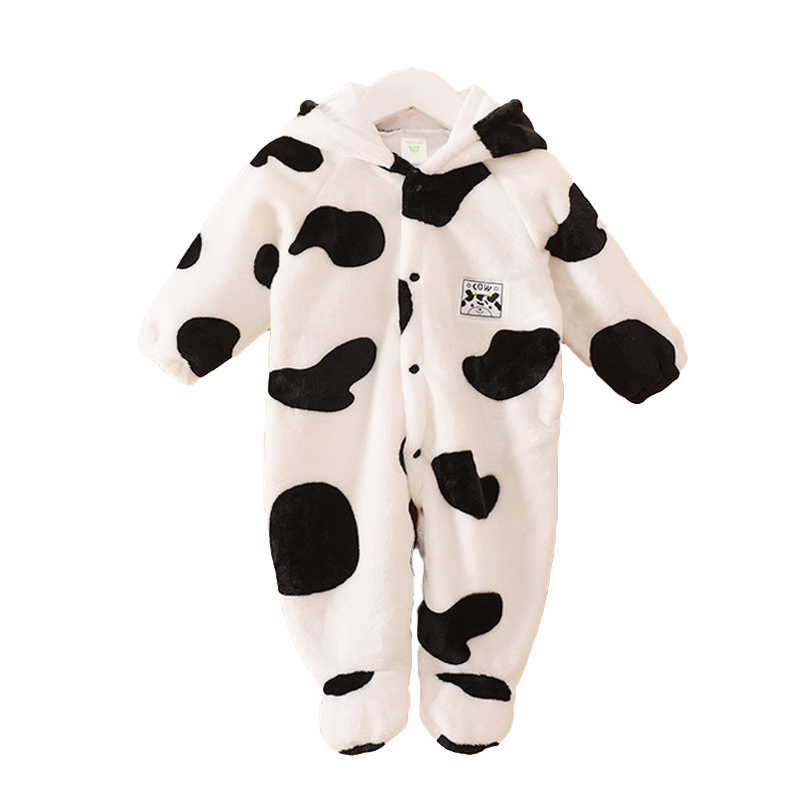106d5aa93 Autumn Winter Baby Clothes Coral Fleece Jumpsuit Animal Clothing ...