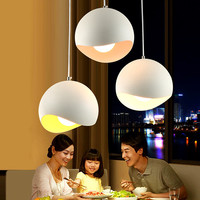 Modern Smooth Curve Hemispherical Pendant Light Aluminum Colorful Lampshade Bar Home Cafe Suspension Lamp Lighting Engineering