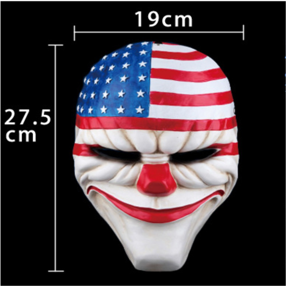 купить Clown mask Payday Masks Dallas America Cosplay Masque Halloween Party Carnival Masks Resin Funny Scary Clown Masks Home Decor недорого