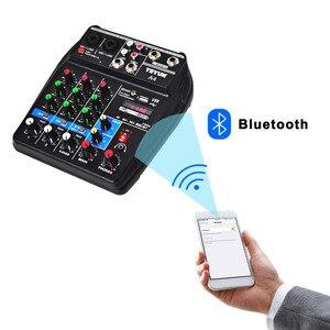 Image 3 - A4 48 В фантомное питание 2 моно 1 стерео USB воспроизведение USB Запись компьютерное воспроизведение компьютер запись Bluetooth мини аудио микшер