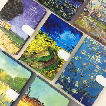 Hard Cover Notebook 32K Magnatic Ruled Vincent Color Van Gogh Journal vincent van gogh postkartenbuch