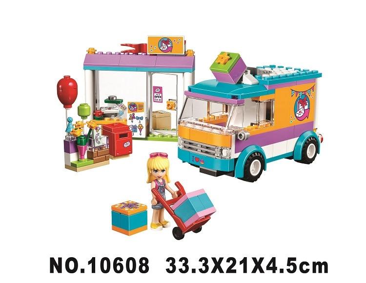 BELA 10608 188cs Heart lake city gift shop.Legoings 3D DIY Figures toys for children educational building blocks Birthday Gifts