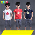 Children's clothing child summer 2016 male short-sleeve child set female baby 100% cotton t-shirt twinse Short sleeve + pants