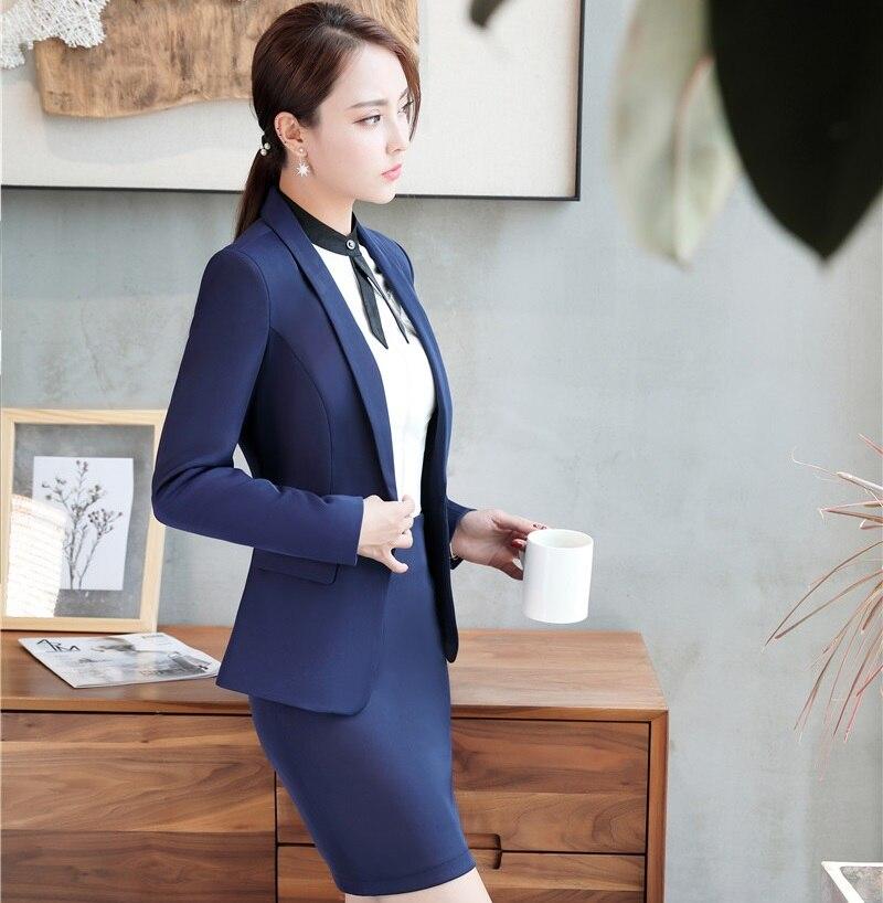 Damen Blazer Mode Weiß Business Anzüge Mit Blazer und Rock 2 stücke Sets Professional Office Arbeit Tragen Blazer OL Stile