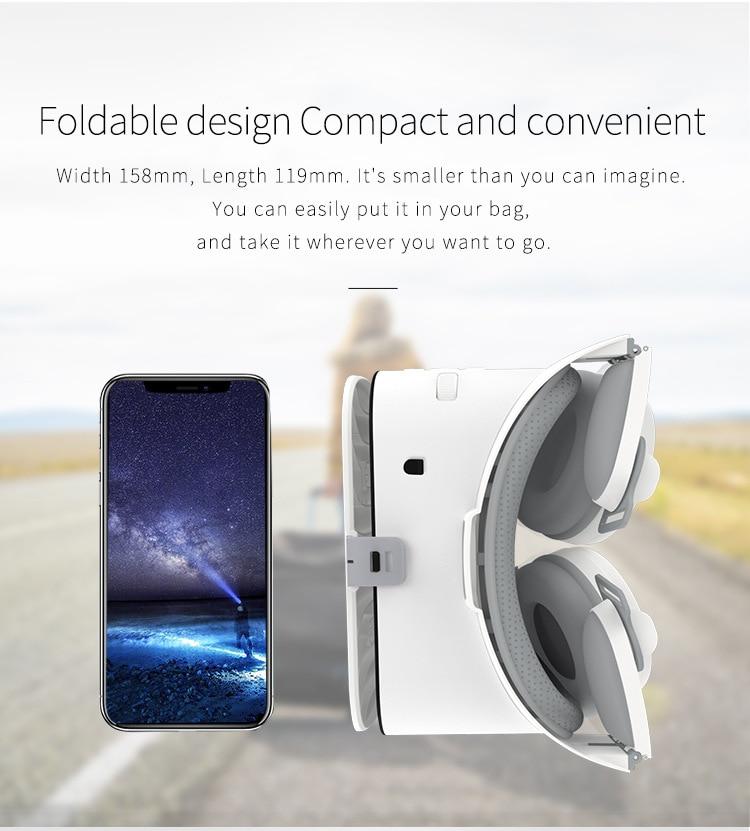 Bobovr Z6 VR 3D Glasses Virtual Reality Mini Cardboard Helmet VR Glasses Headsets BOBO VR for 4-6 inch Mobile Phone dvd movies