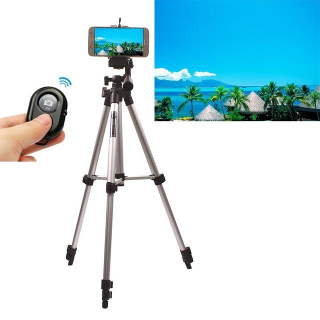 De aluminio soporte de la cámara sostenedor del trípode + Control remoto para Samsung S7 S7 Edge / más