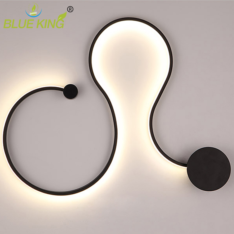 Brief Modern LED Wall Light Living room Bedroom Dining room Washer Bathroom Sconce Wall Lamp Plafonnier LED Minimalist Wandlamp