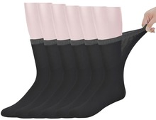 Best Mens Bamboo Mid Calf Diabetic Socks With Seamless Toe,6 Pairs L Size(Socks Size:10 13)