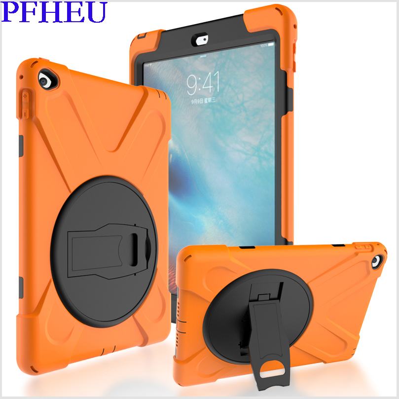 Case For apple ipad air 2 Kids Safe Shockproof Heavy Duty Silicone Hard Cover kickstand design case Model A1566/A1567 Case tablet case for ipad air 2 a1567 extreme heavy duty shockproof rubber cover with stand hard cover case for ipad pro 9 7 inch
