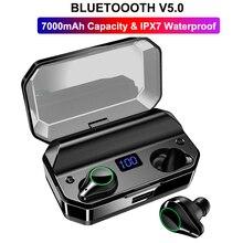 T9 TWS Mini Bluetooth 5.0 Earphones Stereo Noise Reduction True Wireless Earbuds Sport Headset IPX7 Waterproof Earphone 7000mAh q18s touch control true stereo headset ipx7 waterproof earphone in ear earbuds noise reduction wireless headphone