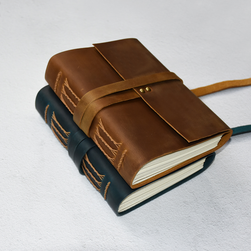 Leather Journal Handmade Vintage Writing Notebook for Men Women 360 Pages 7 x5 5 Art Sketchbook