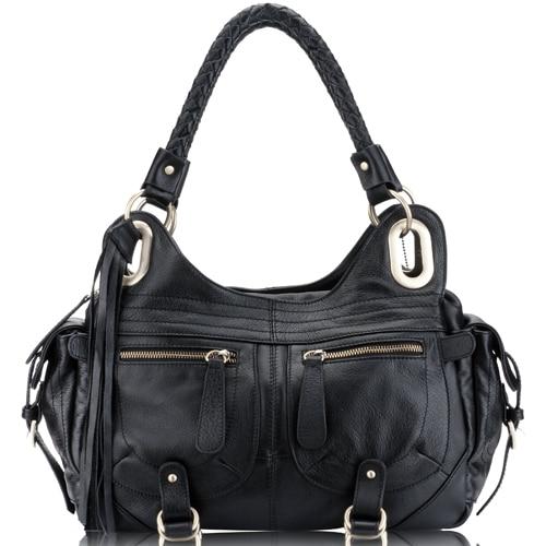 Accept private label Custom logo wholesale drop shipping genuine leather Handbags women Shoulder bags OL Style women bag