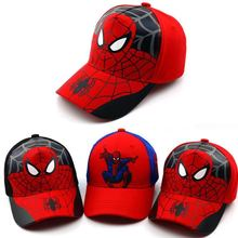 2019 Baby boy girl hats New Spiderman Cartoon baby Embroidery Cotton Baseball Caps kids Boy Girl Hip Hop Hat Snapback