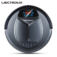 LIECTROUX B3000 Robot Vacuum Cleaner with LED Touch Screen Voice Prompt Self Recharging Anti Fall Remote Control Strong Suction
