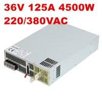 4500 Вт 36 В 125A DC0 36V источника питания 36V125A AC DC высоком Мощность PSU 0 5 В аналогового сигнала управления SE 4500 36 DC36V 126A