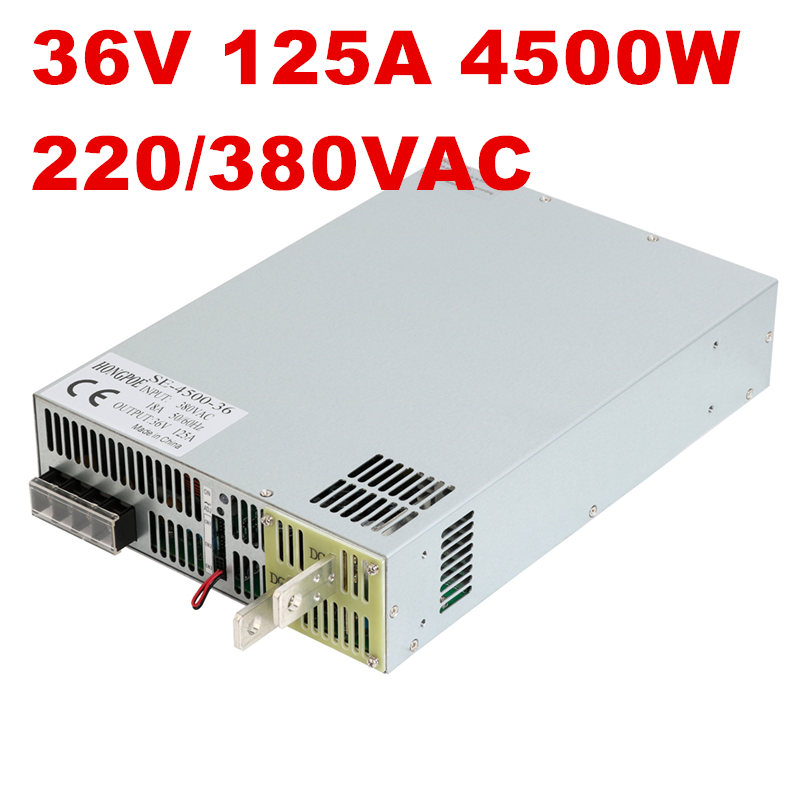 4500W 36V 125A DC0-36V power supply 36V125A AC-DC High-Power PSU 0-5V analog signal control SE-4500-36 DC36V 126A 4500w 36v 125a dc0 36v power supply 36v125a ac dc high power psu 0 5v analog signal control se 4500 36 dc36v 126a
