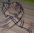 2017 Зимний мужской шарф Англия решетки шарф кашемир хлопок утолщение теплая мужская шарф классический бежевый сетки 180 см * 30 см JX03