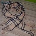 2017 hombres de Invierno bufanda de celosía Inglaterra bufanda bufanda de cachemira engrosamiento de algodón caliente de los hombres clásicos rejilla de color beige 180 cm * 30 cm JX03