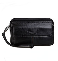 Nowa męska torebka biznesowa w stylu Vintage  w talii  luksusowa torebka  portfel  etui na telefon