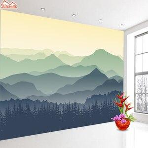 Image 4 - ShineHome Custom Olio Cinese Pittura A Inchiostro Mountain Natura Carte da Parati 3 d Parete di Carta Murale Carta Da Parati Rotolo per Soggiorno pareti