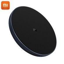 원래 xiao mi 무선 충전기 유니버설 빠른 충전 버전 qi 스마트 빠른 충전기 mi mi x 2 s iphone x 8 plus sumsung s9