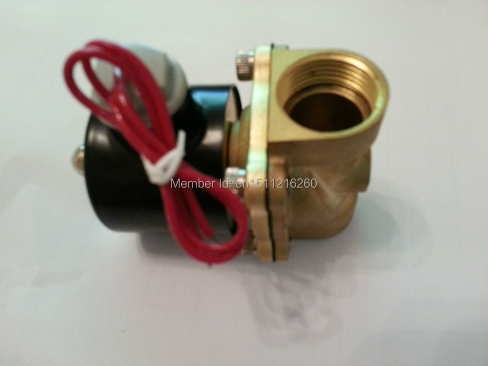 Free Shipping High Quality 1/2'' Brass Solenoid Valve Normally Closed Water Air Oil 2W160-20 NBR DC12V DC24V AC110V or AC220V