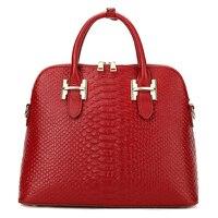 YILIAN Genuine Leather Lady Handbag Crocodile Grain Fashion Cowhide Female Bag Shell Package H002