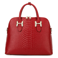 YILIAN Genuine Leather Lady Handbag Crocodile Grain Fashion Cowhide Female Bag Shell Package H002