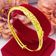 Fashion gold-plated bracelet 18K ladys Vietnam Shajin birthday gift