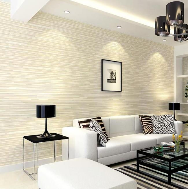 Striped wallpaper in living room for Modern wallpaper designs for living room