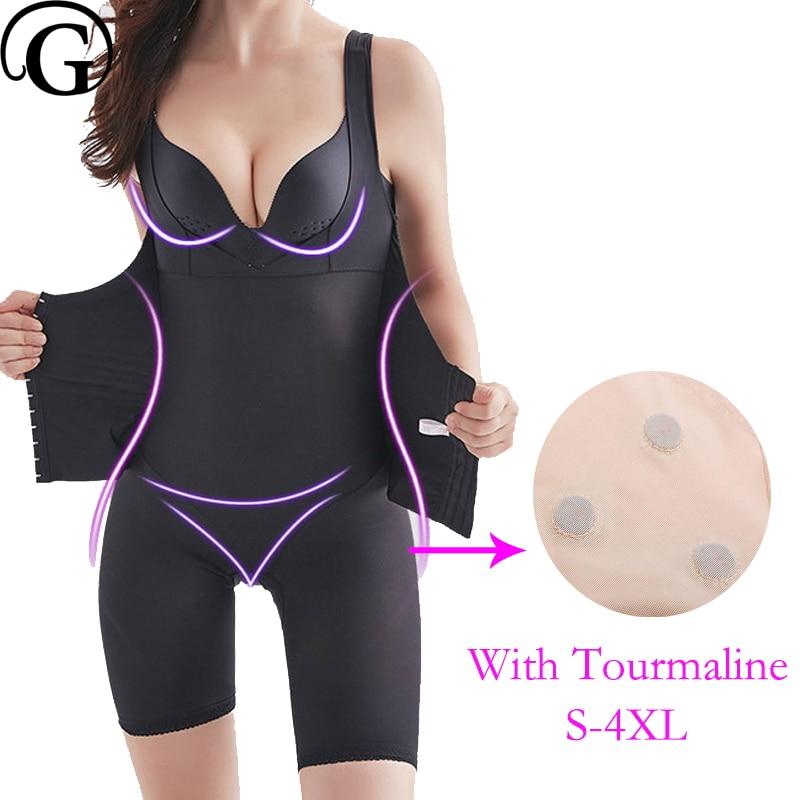PRAYGER Femmes Magnétique Full Body Corset Soutien-Gorge Lifter Shapewear Minceur Taille De Compression Ventre Combinaisons Tourmaline Sous-Vêtements