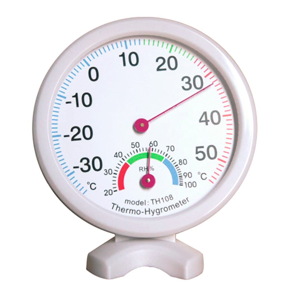 цена на Hot sale Mini round bell type Indoor and outdoor Thermometer hygrometer Suspension Diameter 7.5cm thermometer