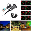 Christmas Laser Projector Xmas 12 patterns Remote RG laser light Waterproof Outdoor garden gala party effect light stage lights
