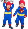 Baby Boy Romper Superman Long Sleeve Smock Halloween Christmas Costume Gift Boys Rompers baby Spring Autumn Clothes SAILEROAD