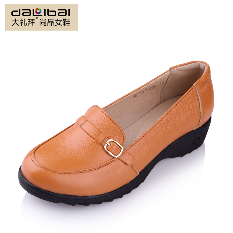 Hot Sale Autumn Women Genuine Leather Flat Shoes ...