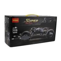Decool 7115 338Pcs DC Comics Super Hero The Dark Knight Batman Batpod Model Building Kits Minifigure