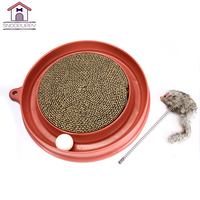 Cat Toys Scratch Board For Small Medium Cats Grab And Have Fun Cat High Quality Interactive Toys Round Cat Scratch Board YT0011