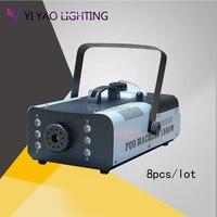 8pcs/lot RGB LED Wireless Smoke Fog Machine 1500W Stage Lighting Effect For DJ Disco